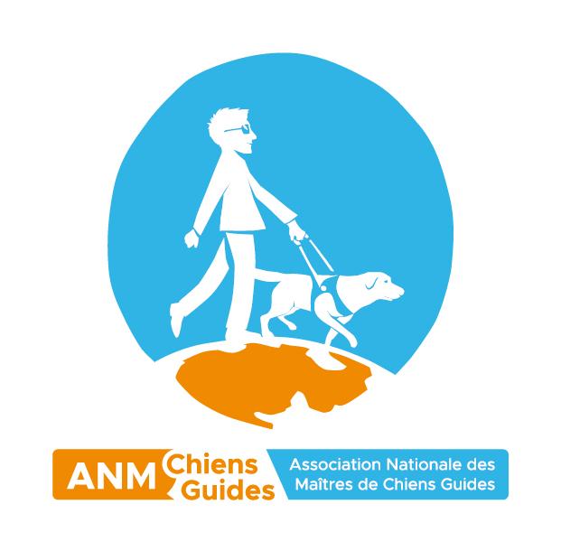 Logo Association Nationale des Maîtres de Chiens Guides.