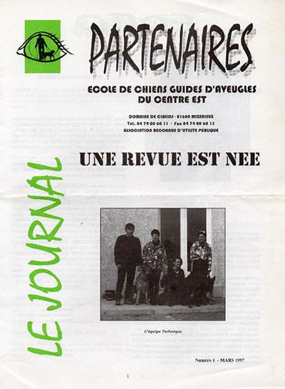 Couverture du premier journal partenaires sorti en Mars 1997